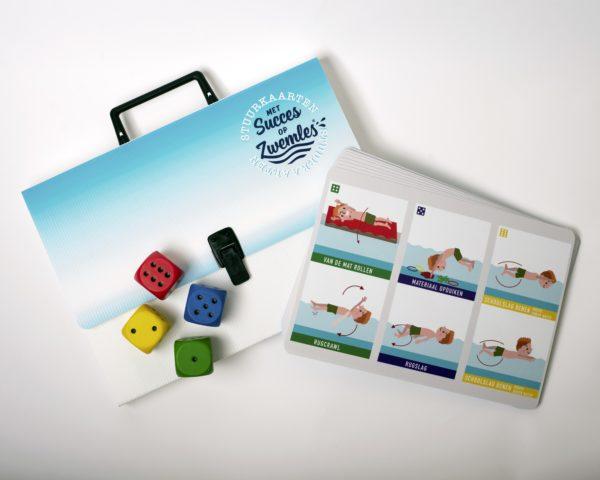 Stuurkaarten voor zwemles diepwatermethode