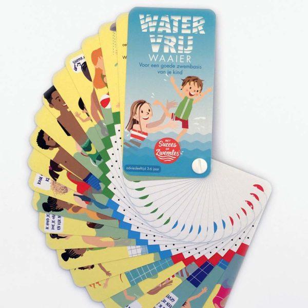 watervrijwaaier, hulpmiddel om kinderen watervrij te maken