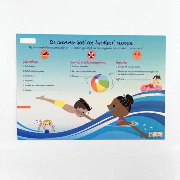 achterkant van swimboost certificaat